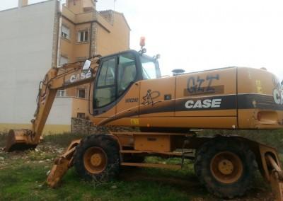 Excavadora de ruedas Case WX210